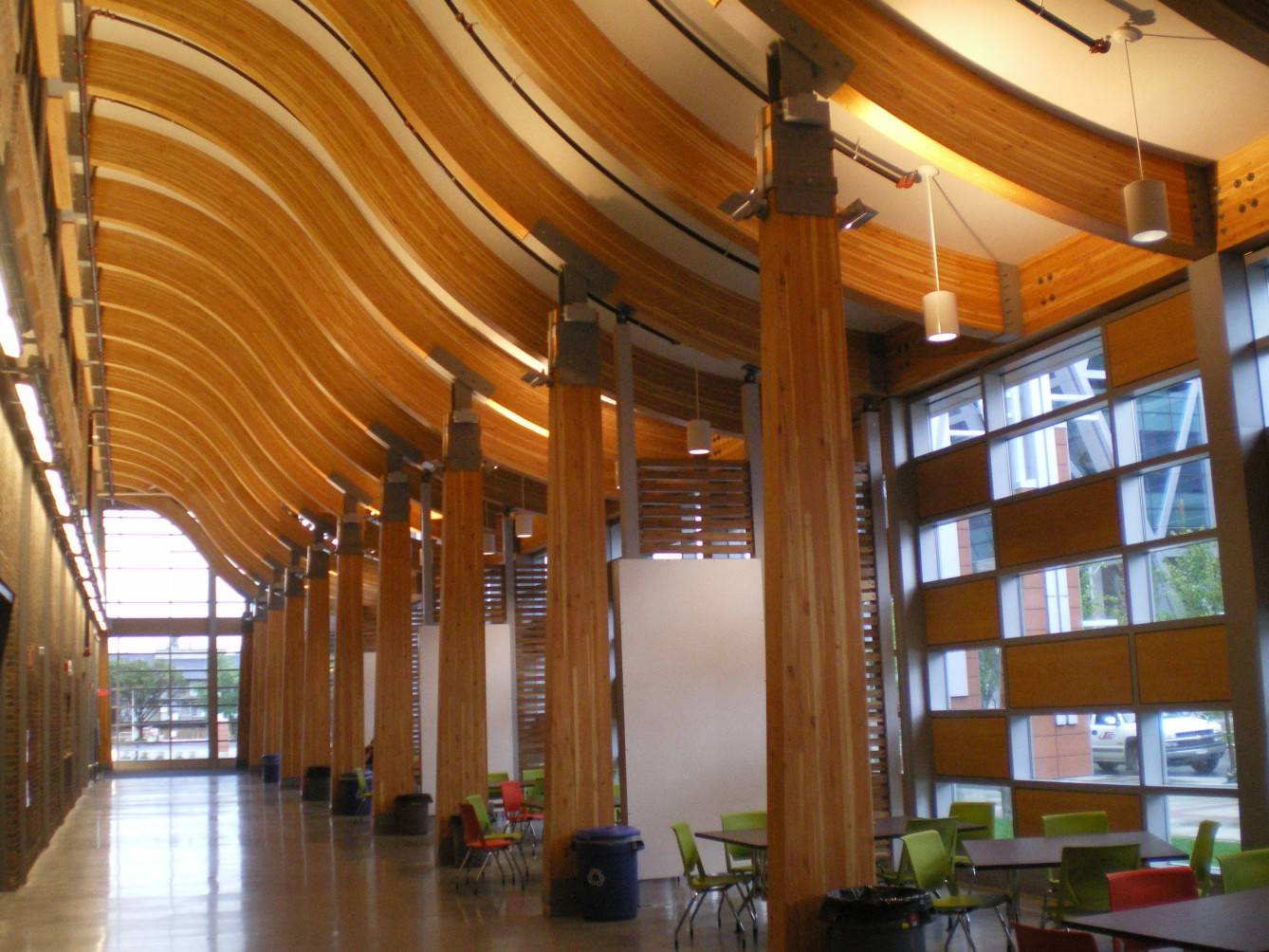 Glulam Used In World Class Trades Amp Technology Complex At