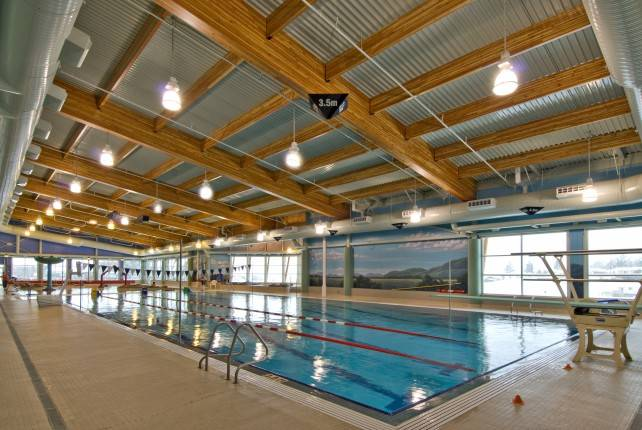 Glulam Beams in Creston Pool