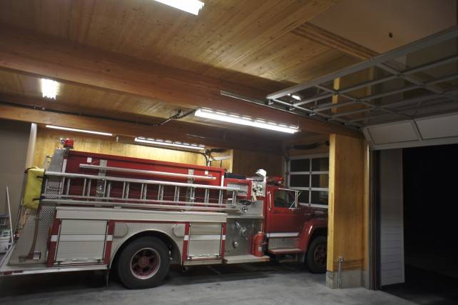 CrossLam CLT in Garibaldi Fire Station, Whistler, BC