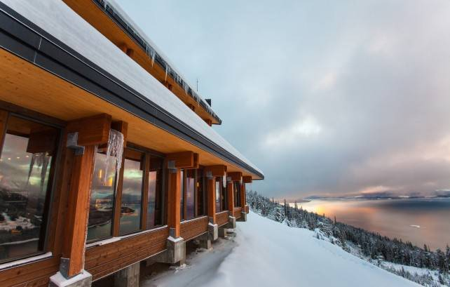 CrossLam CLT in the Mica Heli Ski Lodge