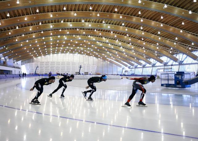 Glulam beams in the Richmond Olympic Oval